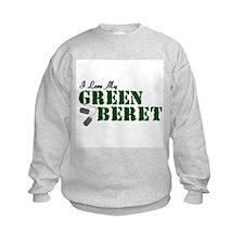 I Love My Green Beret Sweatshirt