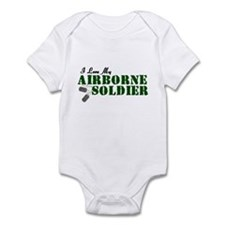 I Love My Airborne Soldier Infant Bodysuit