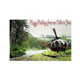 Holiday Helicopter Cabin Rectangle Magnet (100 pac