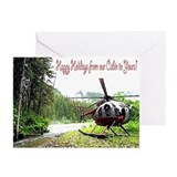 Holiday Helicopter Cabin Greeting Cards (Pk of 10)