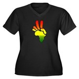 Peace in Africa REGGAE Women's Plus Size V-Neck Da