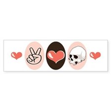 Peace Love Forensic Anthropology Bumper Bumper Sticker