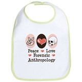 Peace Love Forensic Anthropology Bib