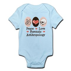 Peace Love Forensic Anthropology Infant Bodysuit