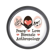 Peace Love Forensic Anthropology Wall Clock