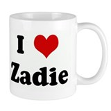 I Love Zadie Small Mugs