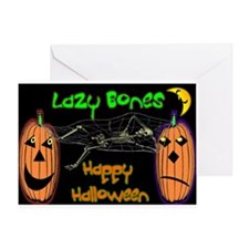 Unique Lazy bones Greeting Card