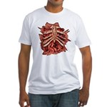 Halloween Zombie Gore Fitted T-Shirt