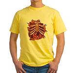 Halloween Zombie Gore Yellow T-Shirt