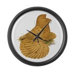 English Trumpeter Deroy Large Wall Clock