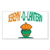 Jeremy-O-Lantern Rectangle Decal