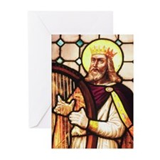 King David the Psalmist Greeting Cards (Package of