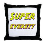 Super everett Throw Pillow