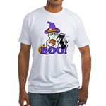 Halloween Ghost Fitted T-Shirt