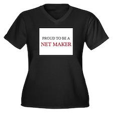 Proud to be a Net Maker Women's Plus Size V-Neck D