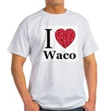 I Love Waco Ash Grey T-Shirt