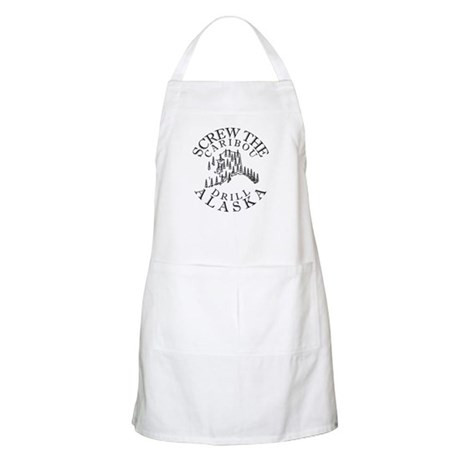 Screw Caribou (Drill Alaska) BBQ Apron