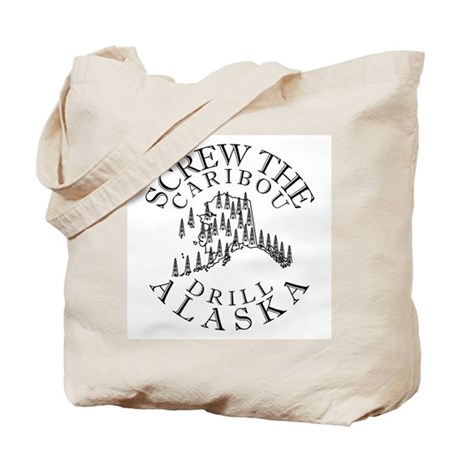 Screw Caribou (Drill Alaska) Tote Bag