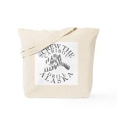 Screw Caribou (Drill Alaska) Tote Bag