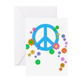 Peace Love Flowers Greeting Card