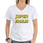 Super emilia Women's V-Neck T-Shirt