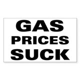 Gas Prices Suck Rectangle Decal