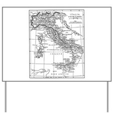 Augustus' Italy Map Yard Sign