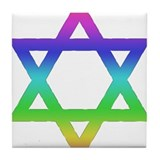 Gay Jew Tile Coaster