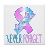 Pregnancy & Infant Loss Ribbon Tile Coaster