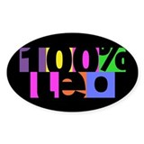 100 Percent Leo Oval Stickers