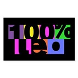 100 Percent Leo Rectangle Sticker 10 pk)