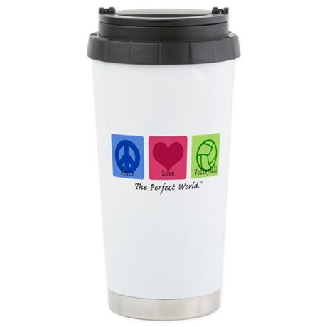 Peace Love VB Ceramic Travel Mug