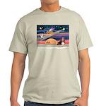 Xmas Star & Basset Light T-Shirt