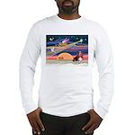 Xmas Star & Basset Long Sleeve T-Shirt