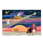 Xmas Star & Basset Postcards (Package of 8)