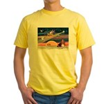 Xmas Star & Basset Yellow T-Shirt