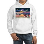Xmas Star & 2 Bassets Hooded Sweatshirt