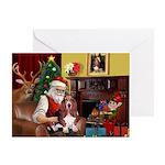 Santa's Basset Hound Greeting Card