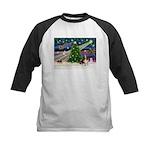 Xmas Magic - Basset Kids Baseball Jersey