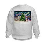 Xmas Magic - Basset Kids Sweatshirt