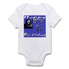 Cute 34th birthday party Infant Bodysuit