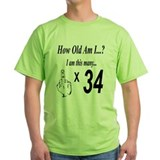Cool 34th birthday party T-Shirt