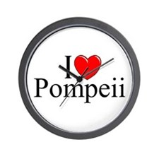 """I Love (Heart) Pompeii"" Wall Clock"