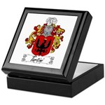 Tartini Family Crest Keepsake Box