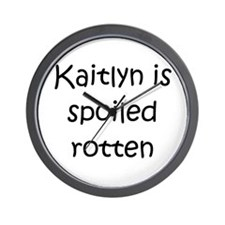 Kaitlyn name Wall Clock