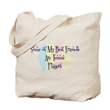 Tennis Players Friends Tote Bag