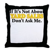 Yard Sales Throw Pillow