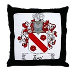 Terzi Family Crest Throw Pillow