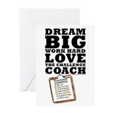Thanks Coach! Dream Big #1419 Greeting Card