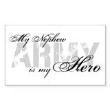 Nephew is my Hero ARMY Rectangle Decal